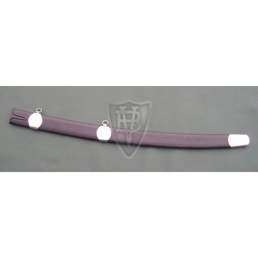 Hardwood Scabbard for sabres, Leather covered